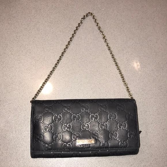 51430f2a2796 Gucci Handbags - Auth Gucci Guccissima leather WOC Wallet clutch
